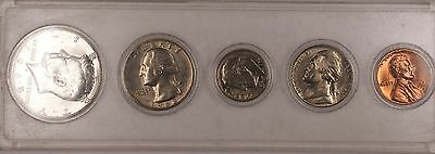 1968 D US Uncirculated Year Set with 40% Silver Half 5 Brilliant Coins Total