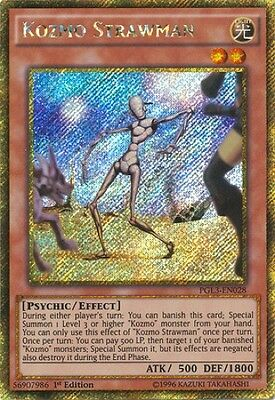 Kozmo Strawman (PGL3-EN028) - Gold Secret Rare - Near Mint - 1st Edition