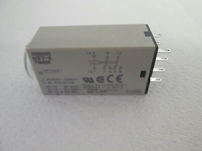 **NEW** Omron H3Y-2 Solid-State Miniature Timer Compatible w/the MY Relay, 24VDC