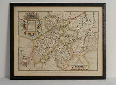 Framed Reprint of Saxtons Map of Northamptonshire and Neighbouring Counties