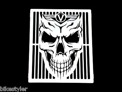Vn1500 Kawasaki Vulcan Classic, Nomad Skull Stainless Radiator Grill Guard Cover