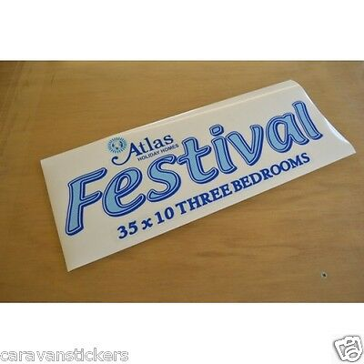 ATLAS Festival - (STYLE 2) - Static Caravan Sticker Decal Graphic - SINGLE