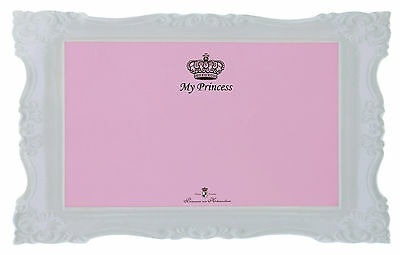 Designer My Princess Pink Dog Cat Place Mat Non-Slip with Crown Design