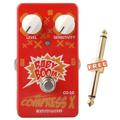 Biyang Baby Boom CO-10 Compress X Guitar Effect Pedal Compressor True Bypass New
