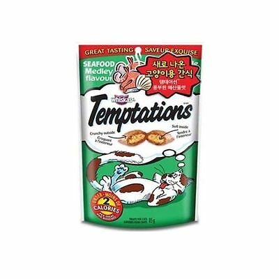 Whiskas Temptations Treats for Cats 1 Pack of Seafood 85g
