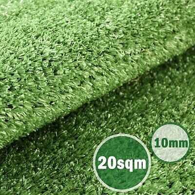 NEW 20sqm 10mm Outdoor Garden Lawn Synthetic Turf Sport Fields Artificial Grass