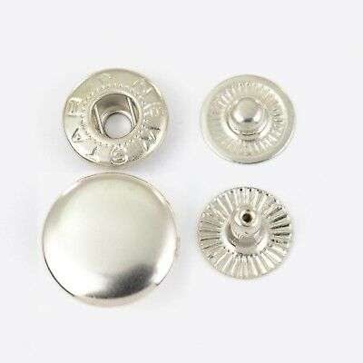 45 Push buttons Typ 54 /15mm, Brass rust-free, silver plated, Button