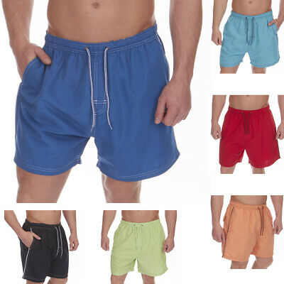 Mens Swimming Board Shorts Swim Trunks Swimwear Beach Holiday Side Pockets New