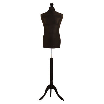 Male Tailors Dummy Black Fashion Students Mannequin Window Display Bust