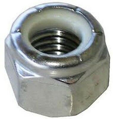 Stainless Steel A2 M5 x .8 Nylon Insert Lock 304 Nut pack of 20