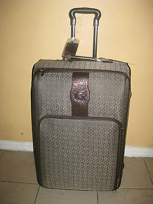 "GUESS  travel bag,luggage suitcase, 24"" BROWN CONESTOGA"