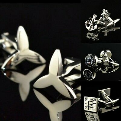 Stainless Steel gold Silver Crystal Shirt Cufflinks fit Wedding party Business