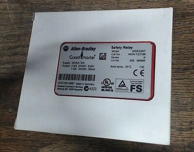 NIB Allen-Bradley safety relay MSR33RT 440R-F23199 - 60 day warranty