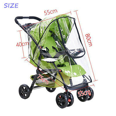 *Newest* Rain Cover Coat Raincovers For Baby Carriage Pushchair Universal Size