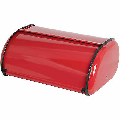 Home Basics Stainless Steel Cake Bread Box Kitchen Food Storage Container - Red