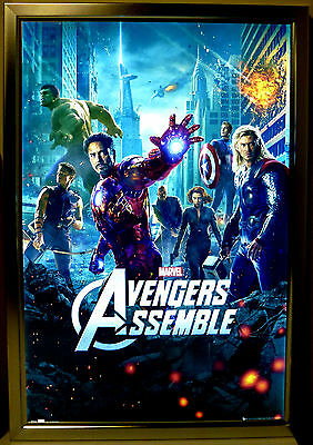 18x24 Movie Poster  Led Light box Display Frame Store Advertising Sign Ads Photo