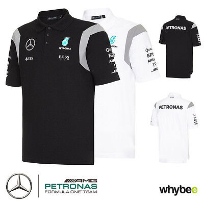 2016 Mercedes-AMG F1 Formula One Team Mens Polo Shirt in 200gsm Cotton Pique