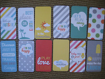 """'HELLO SUNSHINE' PROJECT LIFE CARDS  -  pack of 12 - 2"""" x 4"""""""