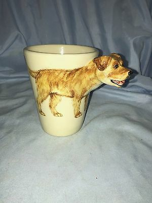 Border Terrier Cup Mug By Bondy Pet Products Blue Witch Design Dog Sticks out