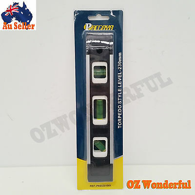 "Paccaya 9"" Torpedo Style Level 230Mm Epp0755 Torpedo Level"