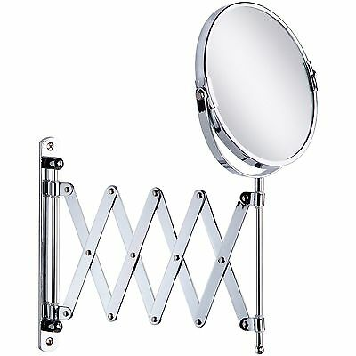 """Taymor 02-D1053 EXTENDABLE WALL MIRROR POLISHED CHROME 2X MAGNIFICATION 4""""-22"""""""