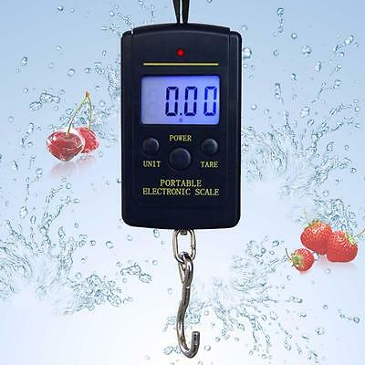 40kg 10g LCD Digital Light Fish Hanging Luggage Weight Electronic Hook Scale FB
