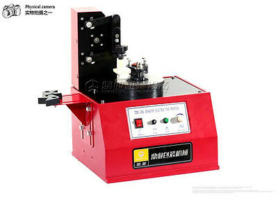 CE Semi Automatic Circle Plate Expiry Date Ink Pad Cup Code Printing Machine