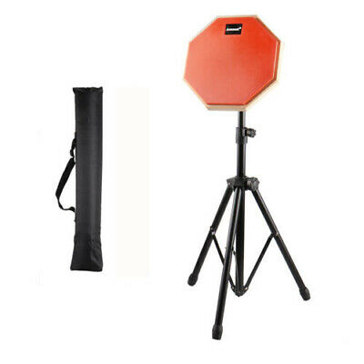 8'' Drum Practice Pads Rubber Drum Mute Pads for Beginner Quiet Playing & Stand