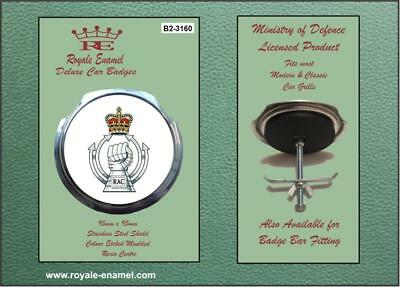 Royale Classic Modern Car Grill Badge + Fittings - ROYAL ARMOURED CORPS B2.3160