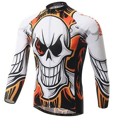 Evil Mtb Cycling Jersey Long Sleeve Bike Clothing Team Bicycle Jersey Tops S-5XL