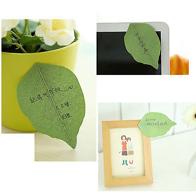 """50 Sticky Notes POST-IT Memo Pad Ideal Exquisite """"Leaf-it"""" Leaves Note"""