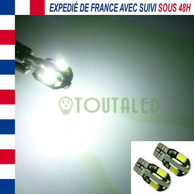 2X Ampoule Lampe 12V T10 W5W 8 Led 5630 Blanc Froid Interieur Plafonnier Tuning