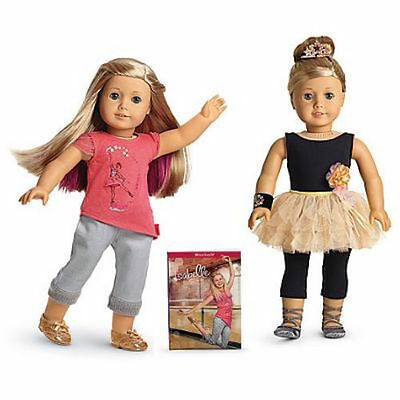"""NEW American Girl 18"""" Doll of Year 2014 ISABELLE + Book + Performance Set Outfit"""