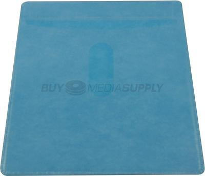 Non woven Blue Color Plastic Sleeve CD/DVD Double-sided - 1000 Pack