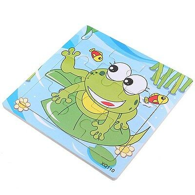 9Pcs DIY Wooden Frog Puzzle Jigsaw Baby Kids Training Education Toy
