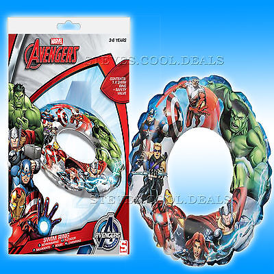 Marvel Avengers Kids Armbands Water Wings Rubber Swim Ring Duel Sticks Fun Boat