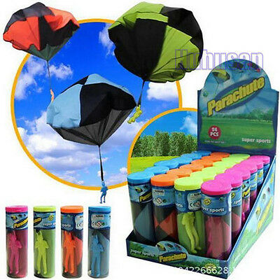 Kid Children Tangle Free Toy Parachute Kite Outdoor Play Game Figure Bear S