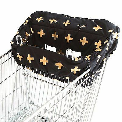 Bambella Designs Trolley Cover Liner - Universal Fit - GOLD CROSS