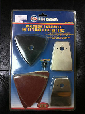 King Canada Tools KW-4807 19 PIECE SANDING AND SCRAPING KIT 8348 FEIN hook loop