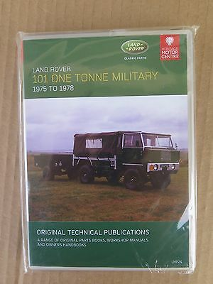 Land Rover 101 One Tonne Military (1975-78) Parts, Workshop, and Owner's Manuals