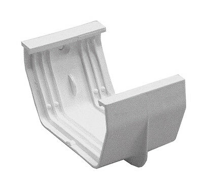GSW Euramax T0405 WHITE CONTEMPORARY GUTTER JOINER DOWNSPOUT TUFFLO AMERIMAX 4""