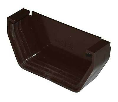 GSW Euramax T1411 BROWN CONTEMPORARY END CAP GUTTER DOWNSPOUT TUFFLO AMERIMAX 4""