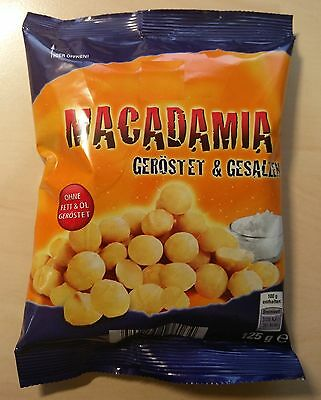 4,5 oz / 125 gram Macadamia Nuts, without oil or fat roastet, salted, Delicious