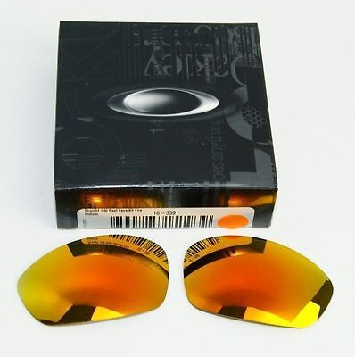 OAKLEY STRAIGHT JACKET FIRE IRIDIUM LENSES 16-559 New in Box *AUTHENTIC*