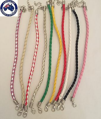 10pcs Braided Bracelet Green Tan Silver Red 10x Bracelets Mix Bundle Wholesale