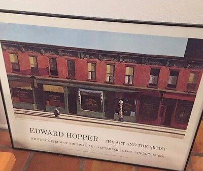 """Edward Hopper """"The Art and The Artist"""" Whitney Museum Of American Art Poster!"""
