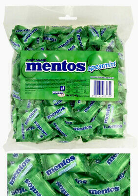 Mentos GREEN Spearmint Pillow Pack 540g Minty Chews Buffet Candy Sweets Favors