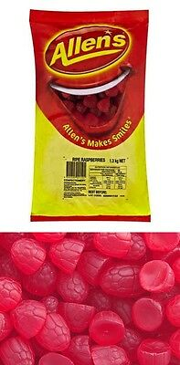 Allens Ripe Raspberries 1.3kg Bag Allen's Lollies Candy Buffet Sweets Favors New