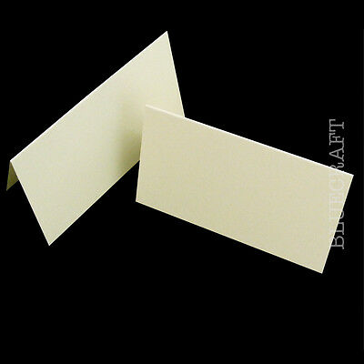 200 x Premium Ivory Linen Place Name Cards - Embossed