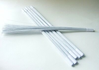 100 PCS WHITE STEM WIRE FLORAL TAPE WRAPPED ARTIFICIAL FLOWER CRAFT GAUGE 24x12